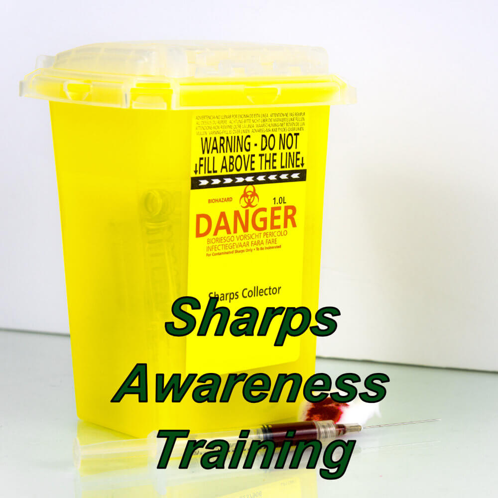 Sharps and needle stick awareness online training course